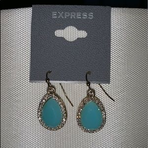 Express Turquoise Earrings NWT